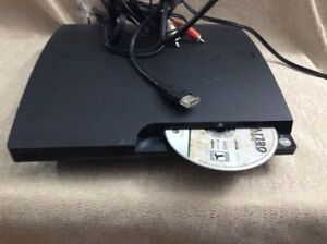 PS3 - Console and wires included ( Power cable, HDMI, 2 AV Cable