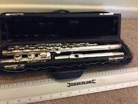Silver Trevor J. James flute, one of the best quality starter flutes (google it)