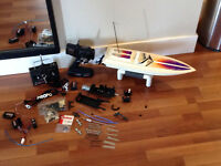 Rc traxxas boat, original and jr radio..works..snap on tools etc