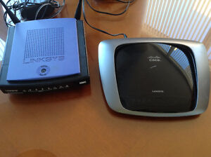 Two Linksys routers for sale