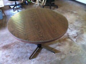 Round table with glass top