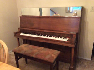 Free antique upright piano and bench