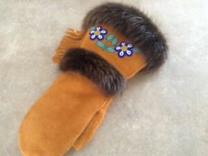 Authentic Hand sewn Moccasins, Mukluks, Mitts