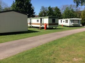 Fully equipped caravans on caravan park at Brodie near Forres