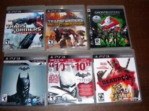 PS3 Games mint condition all look like new.