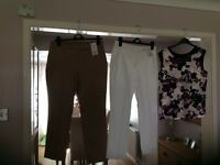 Dorothy Perkins crop trousers and blouse size 12