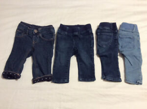 Set of 4 Baby Girl Gap Jeans (3-6 months)