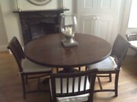 Genuine Lombok solid teak dining table and chairs