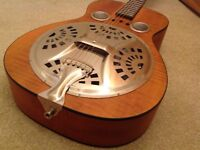 Dobro Hound Dog Deluxe resonator guitar with pickup and case