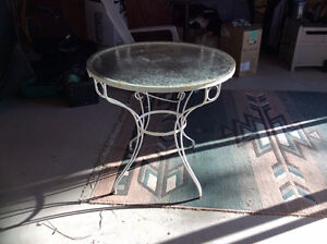 Glass and wrought Iron Garden table