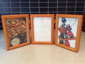 3-way pine wooden picture frame