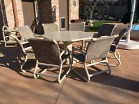 10 piece 8 seat octagon patio set