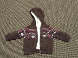Girls 12-18 months Cherokee Fleece Sweater Coat