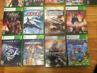 Asorts of Xbox 360 games for sale