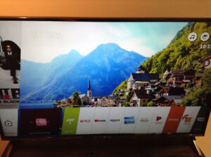LG 49 inch 4K UHD smart tv mint condition
