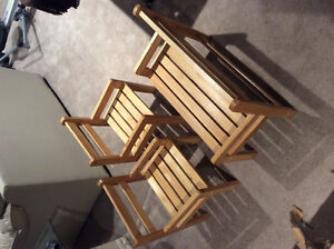 2 Children's Chairs with Bench Cambridge Kitchener Area image 1
