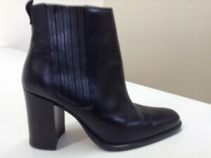100% Genuine Leather Black Ankle Boots – Size 6 – BRAND NEW