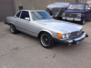 1977 Mercedes Benz SL-450 And 1988 Mercedes sl-560