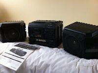 Portable radio/cassette player