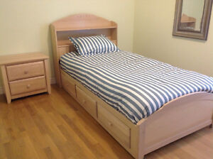 Bookcase Mates Bed & Night Table