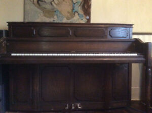 Lesage piano. Good sounding board. A few minor dings in the wood