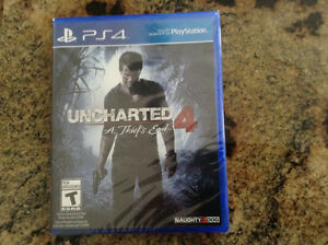 Uncharted 4 Brand New! Still in plastic wrap!