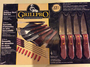 Brand new 22pc BBQ set with hard case