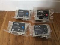 Unopened Epson Print Cartridges T0481, T0482 & T0483