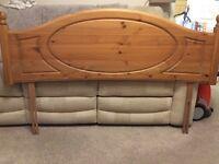 Pine kingsize bed headboard