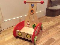 Hape wooden baby toddlers push along wonder walker RRP £89