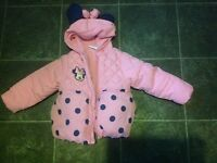 girls disney coat age 9-12 months