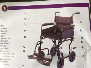 Airgo light weight transport Chair