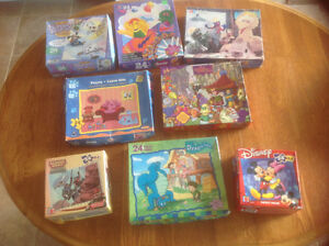 24 children's puzzles...ages 3-8 years