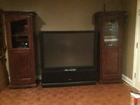 Matching Media units - custom made - rustic color