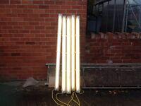 110v fluresant lights x 5