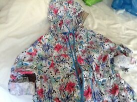 Frozen ladies summer rain jacket