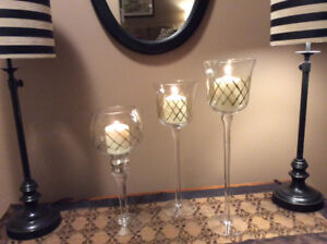 Glassware/candle holders