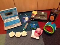 FREE bundle of electronic items for spares/repair incl VTECH laptop, Xmas tree lights etc