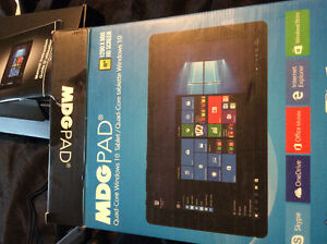 "MDGPAD quad core windows 10 8"" tablet BRANDNEW"