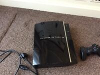 PlayStation 3 PS3 Black 60gb lead and one controller £50