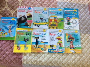 9 Pete the cat and Splat the cat early reader books