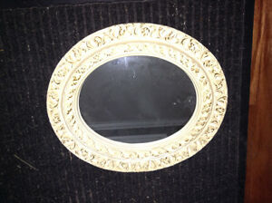Oval decorator plaster mirror for sale