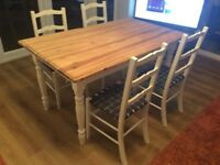 Refurbished shabby chic table and chairs