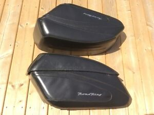 HARLEY ROAD KING LEATHER HARD BAGS 2013 and BACK