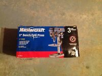 Brand new 8 inch Mastercraft bench drill press