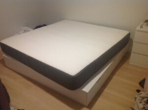 King Size Bed Frame and Mattress for Sale