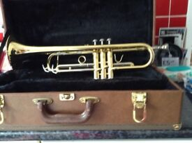 Cranes gold lacquered trumpet for sale