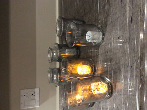 9 Silver Glass Candles