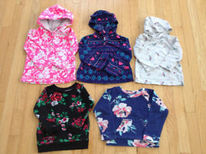 Girl's Size 24 Months/2T Carter's Hoodies and Sweaters