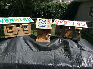 Licence Plate Birdhouses